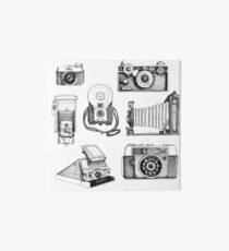 Vintage Camera Collection Art Board