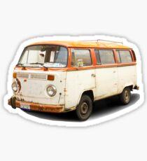 Old vw van Sticker