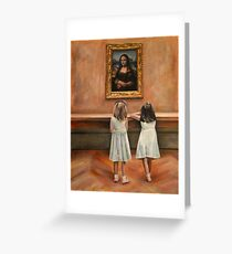 Watching Mona Lisa Greeting Card