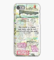 The world is a book TRAVEL QUOTE iPhone Case/Skin