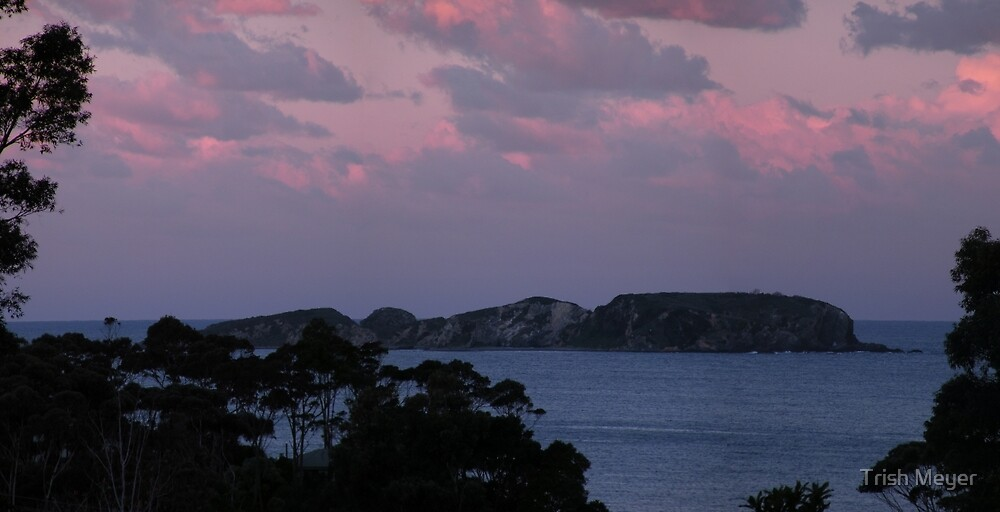 Dusk Over The Tollgate Islands by Trish Meyer