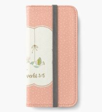 Trust in the Lord - Proverbs 3:5 - Pink iPhone Wallet/Case/Skin