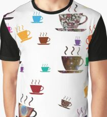 Cups of coffee Colorful Graphic T-Shirt