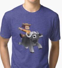 Rodeo Stampede - Sky Zoo Safari Tri-blend T-Shirt
