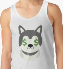 Siberian Husky Emoji Money Face Men's Tank Top
