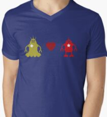 robot love Mens V-Neck T-Shirt