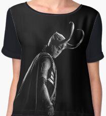 Loki black&white Chiffon Top