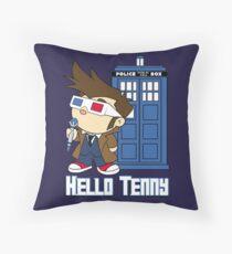 Hello Tenny Throw Pillow