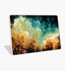 Watercolor Bright Yellow Nebula Laptop Skin