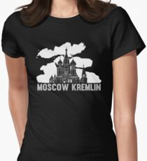 Moscow Kremlin Skyline Womens Fitted T-Shirt