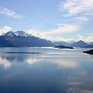 New Zealand landscape Lake Wakatipu by John Wallace