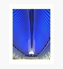 Holiday Light Show, World Trade Center Transit Hub Oculus, Lower Manhattan, New York City Art Print