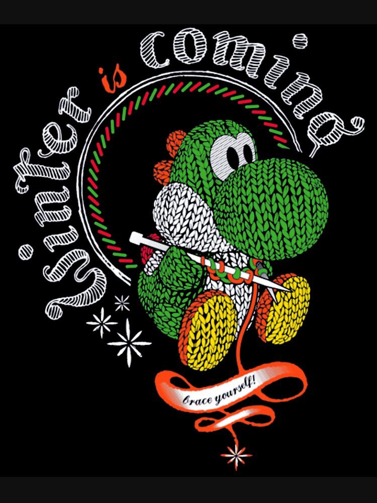 T Shirt Is Coming Yoshi By MattlaRedbubble Winter E9I2eWYDH