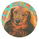 Loverly Long Haired Dachshund by Jane Oriel