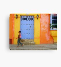 Colonial Style with Colorful Touch Canvas Print