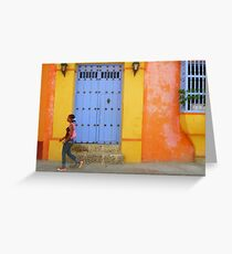 Colonial Style with Colorful Touch Greeting Card