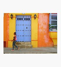Colonial Style with Colorful Touch Photographic Print