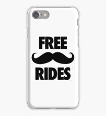 FREE MUSTACHE RIDES iPhone Case/Skin