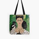 Frida with Monkey and Tote by Shulie1