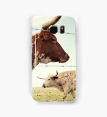 Texas Longhorn Cattle Samsung Galaxy Case/Skin