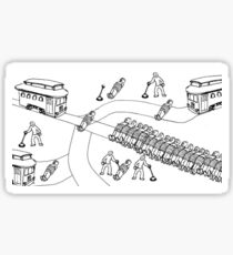 Trolley Problem - Chaos Sticker