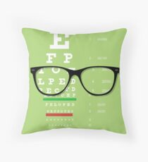 Eyeglasses Chart 01 Throw Pillow