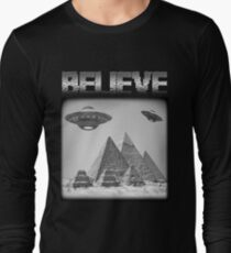 5eac098c1 Ancient Aliens - Believe UFO Extraterrestrial Long Sleeve T-Shirt
