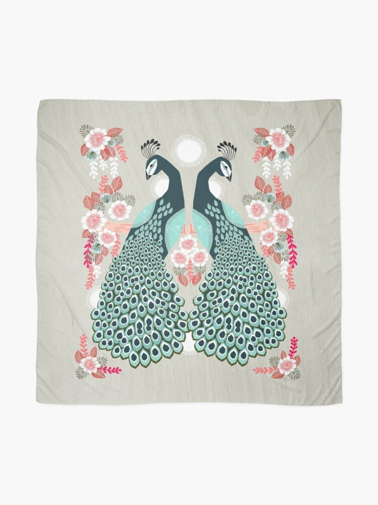 Alternate view of Peacocks by Andrea Lauren  Scarf