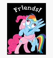 Rainbow Dash and Pinkie Pie Photographic Print