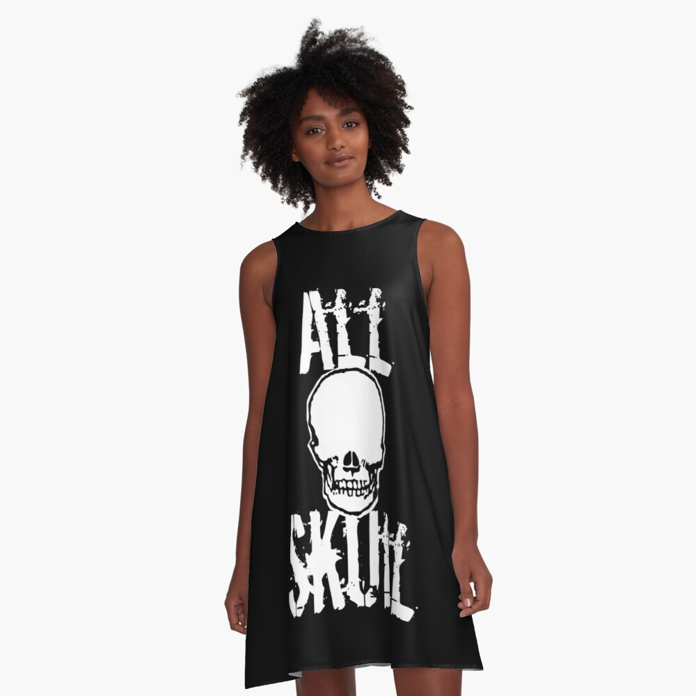 All Skull - The Dark Side A-Line Dress Front