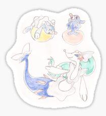 Popplio Evolution Line - Watercolor Sticker