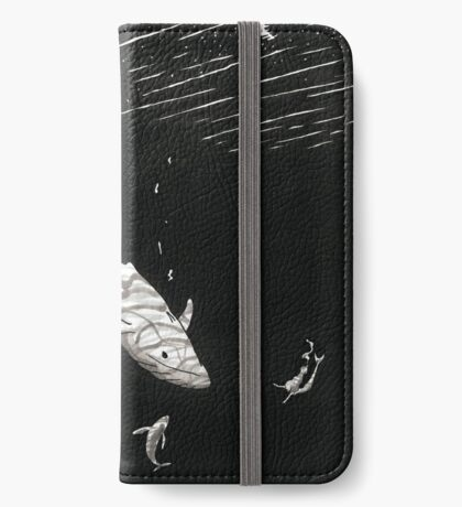 Whales and Mermaid iPhone Wallet