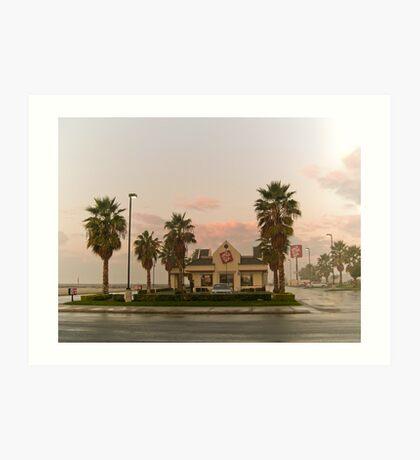 fast food sunrise Art Print