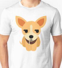 Chihuahua Emoji Secretly Unhappy Look T-Shirt