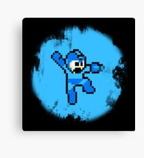 Mega Man Jumps and Shoots Canvas Print