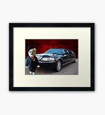 Teddy Bear Limousine Chauffeur Card/Picture Framed Print