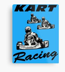 Kart Racing Metal Print