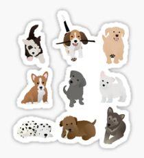 puppies (blue) Sticker