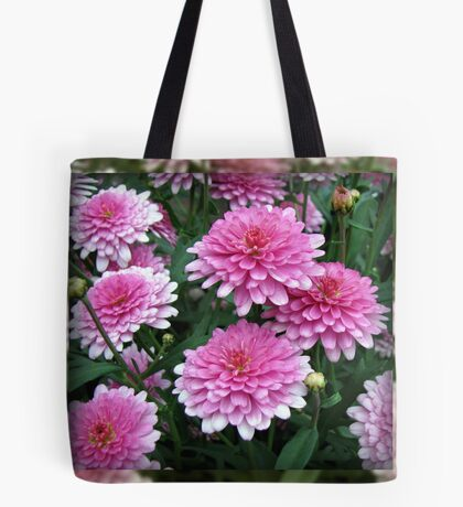 Pretty-in-Pink Summer Flowers Tote Bag