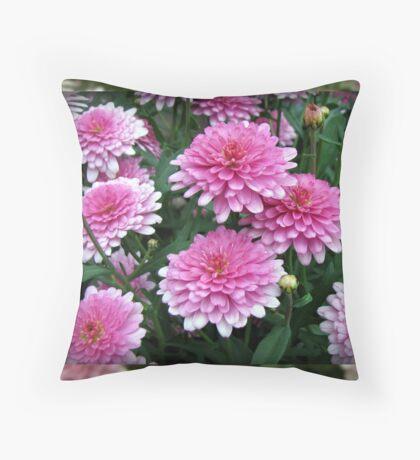Pretty-in-Pink Summer Flowers Kissen