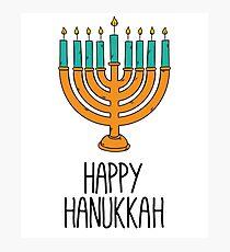 Happy Hanukkah Photographic Print