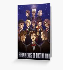 50 Years of Doctor Who Greeting Card