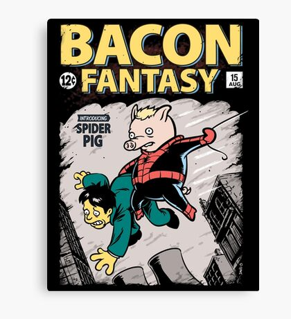 Bacon Fantasy #15 Canvas Print