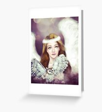 Angel and Owl Greeting Card