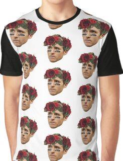 Flower Crown Drew Brees Graphic T-Shirt