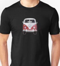 Splitty VW Bus Micro Front Red T-Shirt