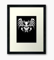 Rorschach Symbiote black Framed Print