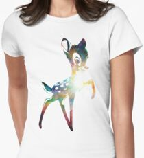 Space Bambi | Heart of Omega Nebula Women's Fitted T-Shirt