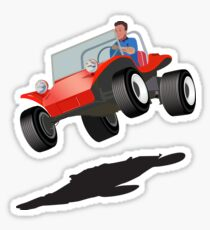 Dune Buggy Manx Jump Sticker