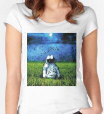 Deja Entendu (Blue) Women's Fitted Scoop T-Shirt